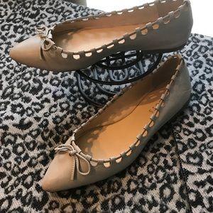 Talbots Poppy Lace Gray Flat Shoes